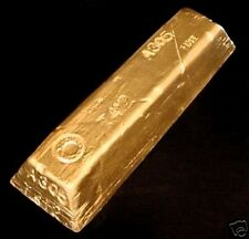 NEW! 1 GOLD BRICK INGOT BAR REPLICA NOVELTY MOVIE PROP