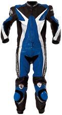 Neue SUOMY Lario Gr. 38 Damen Lederkombi Zweiteiler Schwarz Blau Motorradkombi
