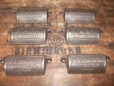 6 x Ghisa Cassetto Maniglie COPPA TIRA vecchio negozio di stampa Portobello RD