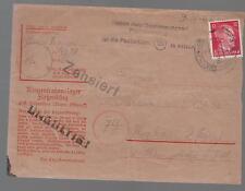 1941 Germany Flossenburg KZ Concentration Camp Cover to Poland Zbigniew Masur