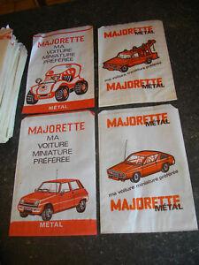 2 Sacs papier ancienne MAJORETTE Renault 5 17 Buggy Pick-Up