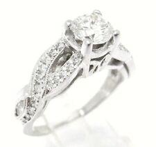 1.85CT ROUND ANTIQUE DIAMOND ENGAGEMENT RING 14K