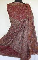 Large Jamavar Paisley Wool Shawl Affordable Luxury Moghul Design Pashmina style