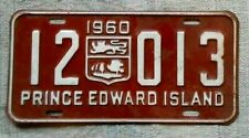 PRINCE EDWARD ISLAND License Plate Tag 1960 PEI - Low Shipping
