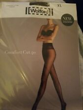 New Wolford Comfort Cut Tights Pantyhose XL Nearly Black $67 NIP