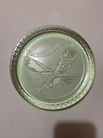 """COMMEMORATIVE Plate Tiara Indiana Glass Year of the Eagle Green 8"""" 1782-1982"""