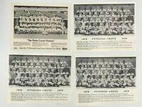 1975 & 1978 PITTSBURGH PIRATES TEAM PHOTO SCHEDULE (STARGELL & PARKER & REUSS)