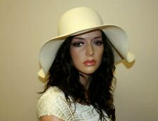 Women's Wide Brim Summer Hat, Boho Style Hat, Beach Hat, Color Ivory