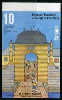 Weeda Canada 1551b, BK175b Fortress of Louisbourg undenominated booklet CV $13
