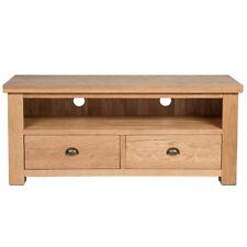 Ashley Oak Large TV Stand / Plasma Unit / Solid Hardwood / Living Room / Sawn