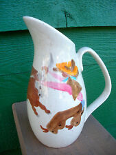 """Vintage, Red Wing Pottery """"ROUND UP"""" Pattern Creamer -No Damage Conditon"""