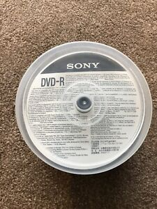 Part Used 45x Sony DVD-R Discs Recordable DVD's