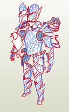 EVA Foam templates of Skyrim Ebony male armor