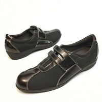 Munro Brown Leather Slip On Wedge Monk Strap Casual Women Shoes Sz 8.5N EUC (10