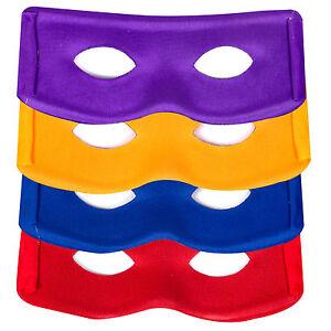 Ninja Style Super Hero Teenage Mutant Turtle Masks: Purple, Yellow, Blue and Red