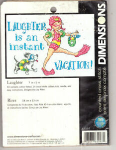 Laughter Is An Instant Vacation. Dimensions Counted Cross Stitch Kit