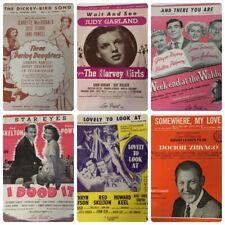 6 Vtg Metro Goldwyn Mayer Sheet Music Zhivago Dickey Bird I Dood It Harvey Girls