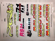 Lot Stickers Malossi Lion New Former Logo 7.1 Motor Rs 24 Oil New