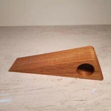 Handmade, elegant Oak door stop wedge. Great housewarming gift. Made in UK