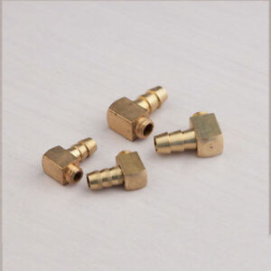 2PCS 90 degree brass M5 / M6 threaded water nipple Water cooling for rc boat