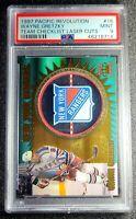 1997 Pacific Revolution Laser Cut Team Checklists Wayne Gretzky PSA 9