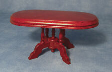 Mahogany Pedestal Table, Dolls House Miniatures, 1.12th Scale Furniture