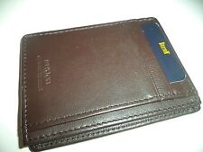 Buxton Slim Cardcase Leather Wallet,Brown