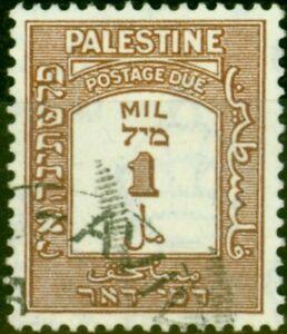Palestine 1944 1m Brown SGD12a P.15 x 14 Very Fine Used