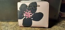 Kate Spade Cameron Grand Flora Small L-zip Bifold Leather Wallet -New w/ Tags