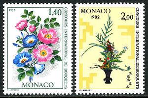 Monaco 1309-1310, MNH. Flower Show. Ikebana, 1981