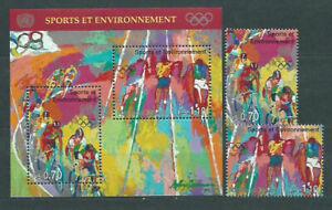United Nations - Geneva Mail 1996 Yvert 317/8 + H, 8 MNH Deportes. Olympics