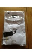"MENS LUXURY WHITE TUXEDO/DRESS SHIRT/WING/PROM/BOW TIE BUTTON CUFF 17.5""  BNWT"