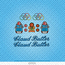 Claud Butler Bicycle Decals Transfers Stickers - Blue & Black Text - Set 0701