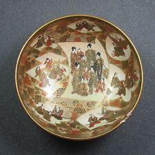 Antike Satsuma Schale Japan Meiji-Zeit beschädigt - E31-2824/201
