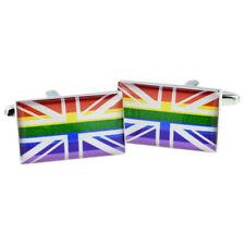 Union Jack Rainbow Cufflinks in a  Cufflink Box X2BOCR202