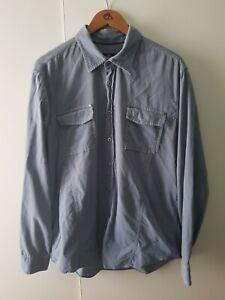 Mens Vintage Strellson Swiss Cross Long Sleeved Shirt Size XL Cord