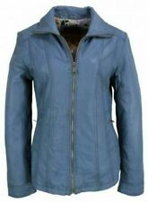 Blaue Damenjacken & -mäntel aus Leder