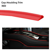 Red Gap Trim Moulding Garnish Line Auto 4x4 Dash Gaps Decor Strip Accessory 8Ms
