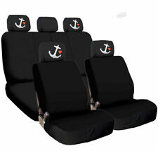 For Mazda New Car Truck Seat Covers Red Kiss Lip Headrest Black Fabric