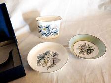 Boxed Royal Worcester Bone China Pin Dishes & Vase
