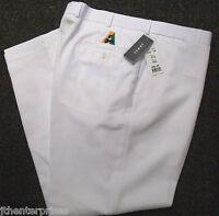 Fletcher Jones Lawn Bowls Tailored Trousers Pants WHITE BA Logo  60%  OFF RRP