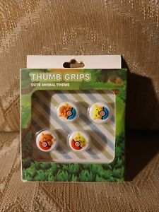 Nintendo Switch & Switch Lite Thumb Grips Pokemon Pikachu Eevee Leyu Smart 4 Pc