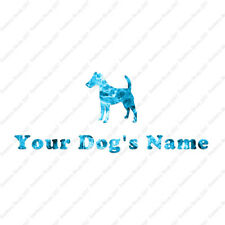Custom Smooth Fox Terrier Dog Name Decal Sticker - 25 Printed Fills - 6 Fonts