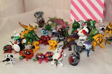 Lot 12 Piece Mexican Folk Animals Bobbleheads of Animals Hand Crafted