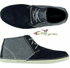 Timberland Men's Bailard Mixed-Media Navy Suede Chukka Shoes A13D4 All Sizes Usa
