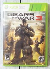 Gears of War 3 Xbox 360 Game 2011 M-Mature Video Game Complete with Stickers