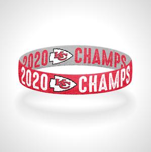 2020 Super Bowl Champs Kansas City Chiefs Bracelet Wristband Reversible