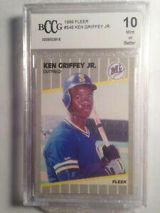 KEN GRIFFEY JR. RC 1989 Fleer #548 BCCG 10 Mint or Better Mariners HOF