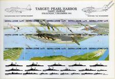 Avión de la Segunda Guerra Mundial Pearl Harbor japonés hoja de sellos de ataque buque de guerra/1991 Sierra Leona