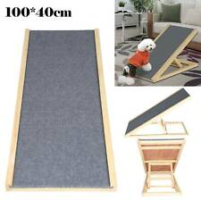 Dog Pet Puppy Ramp Wooden Stairs Folding Adjustable Ramp Access Steps Travel Car